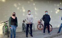 Investigadores de Unizar y CIBERES Esther Broset, Carlos Martín, Jesús Gonzalo, Nacho Aguilo (Foto. Ciber)