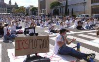 MIR catalanes durante unas protestas en la calle. (Foto. MC)