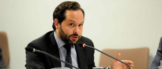 El diputado por el Grupo Parlamentario Popular (GPP) en la Asamblea de Madrid, Diego Sanjuanbenito, durante una intervención (Foto: @GrupoPPMadrid)