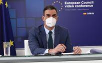 Pedro Sánchez, presidente del Gobierno, durante la reunión del Consejo Europeo (Foto: Pool Moncloa / Fernando Calvo)