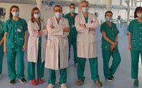 Profesionales del Servicio de Otorrinolaringología del H.12 de Octub que participaron en el implante coclear (Foto. 12 de Octubre)