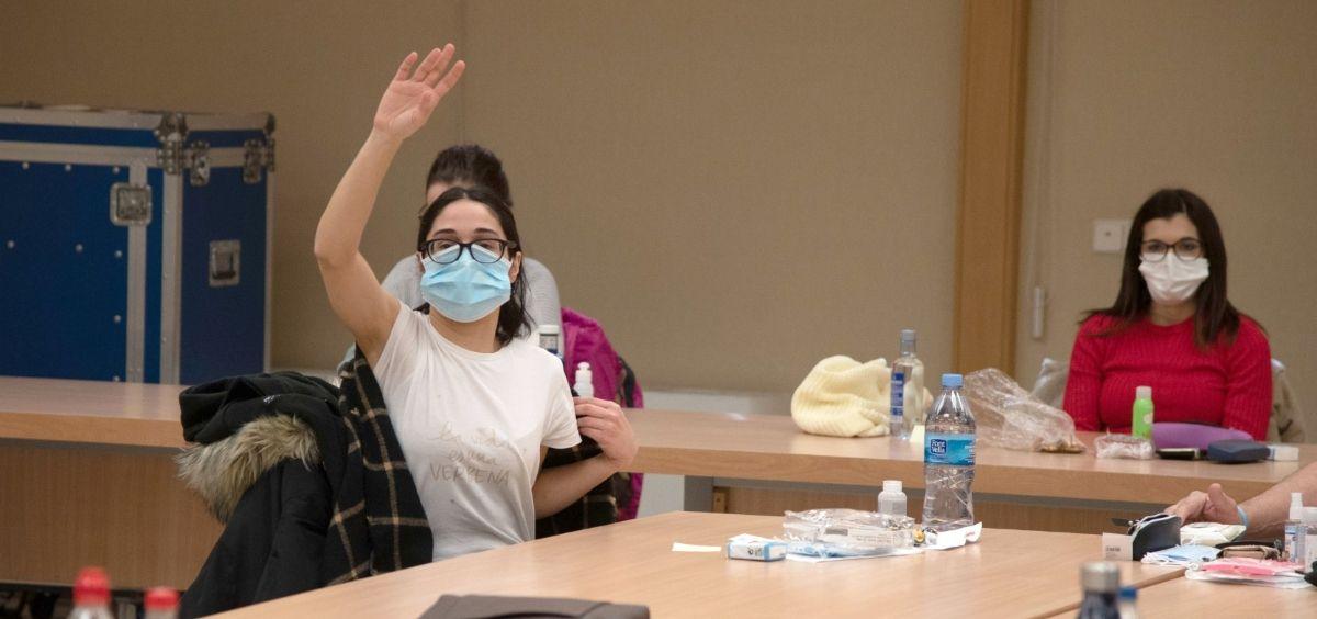 Opositores MIR y de otras pruebas de FSE en el examen. (Foto. Miguel Ángel Escobar / ConSalud)