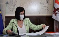 La ministra de Sanidad, Carolina Darias, en el CISNS (Foto. Pool Ministerio de Sanidad)
