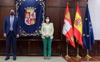 Alfonso Fernández Mañueco, presidente de Castilla y León, y Carolina Darias, ministra de Sanidad (Foto: JCYL)