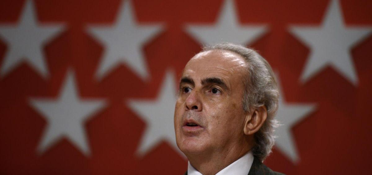 El consejero de Sanidad de la Comunidad de Madrid, Enrique Ruiz Escudero (Foto. EUROPA PRESS O.CAÑAS.POOL)