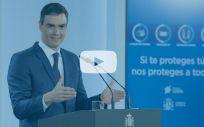 El presidente del Gobierno, Pedro Sánchez (Foto: Pool Moncloa / Montaje ConSalud)