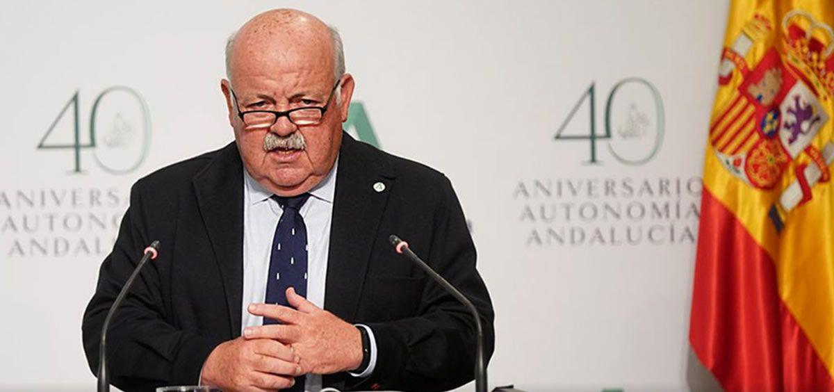 Jesús Aguirre, consejero de Salud de Andalucía. (Foto. Junta de Andalucía)