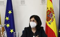 Carolina Darias durante la reunión de ministros de la Unión Europea. (Pool Moncloa. Fernando Calvo)