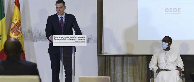 El presidente del Gobierno, Pedro Sánchez, en Senegal (Foto: Borja Puig de la Bellacasa - Moncloa)
