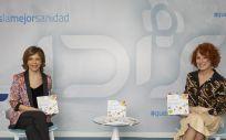 Marta Villanueva, directora general de la Fundación IDIS, y Gloria Lomana, presidenta de 50&50 GL y autora del Diccionario.