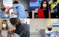 Esperanza Aguirre, Margarita Robles, Ana Pastor o Boris Johnson, entre los vacunados con AstraZeneca (Fotomontaje ConSalud.es)
