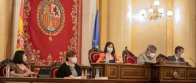 La ministra de Sanidad, Carolina Darias, en la Comisión de Sanidad del Senado (Foto: @gpssenado)