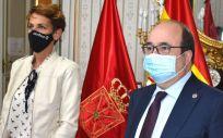 María Chivite, presidenta de Navarra, y Miquel Iceta, ministro de Política Territorial y Función Pública (Foto: Gob. Navarra)