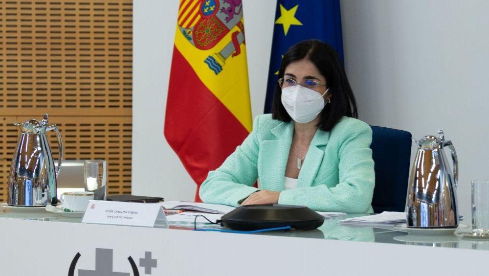 Carolina Darias, ministra de Sanidad, antes de un Consejo Interterritorial (Foto: Pool Moncloa / Borja Puig de la Bellacasa)