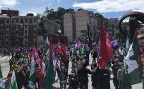 Imagen de una de las manifestaciones convocadas por los sindicatos vascos. (Foto. @ccoo osasuna)