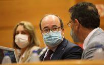 Miquel Iceta, ministro de Política Territorial y Función Pública, en el Senado (Foto: MPTFP)