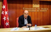 El titular de la Viceconsejería de Salud Pública y Plan COVID-19, Antonio Zapatero, en rueda de prensa (Foto: Comunidad de Madrid)