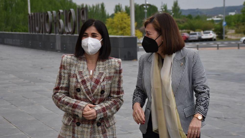 Carolina Darias, ministra de Sanidad, junto a Sara Alba, consejera de Salud de La Rioja (Foto: M. Sanidad)