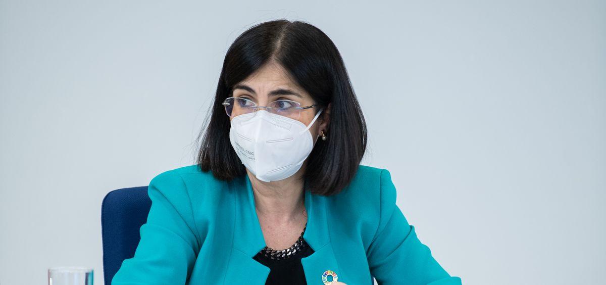 La ministra de Sanidad, Carolina Darias, durante el CISNS (Foto: Borja Puig de la Bellacasa - La Moncloa)