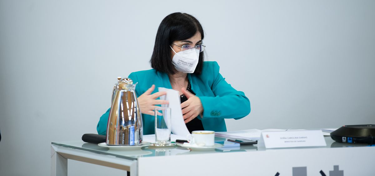 La ministra de Sanidad, Carolina Darias, durante el Consejo Interterritorial (Foto: Borja Puig de la Bellacasa - La Moncloa)