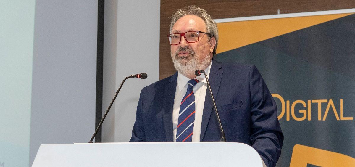 El CEO del Grupo Mediforum, Juan Blanco, durante la inauguración de los V Premios SaluDigital. (Foto. Óscar Frutos)
