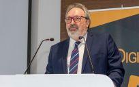 El CEO del Grupo Mediforum, Juan Blanco, durante la inauguración de los V Premios SaluDigital