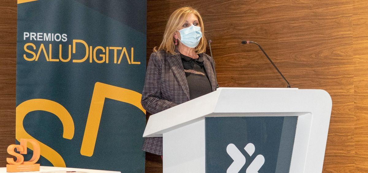 Yolanda Gómez, directora general de Linde Healthcare en los V Premios SaluDigital. (Foto. Óscar Frutos)