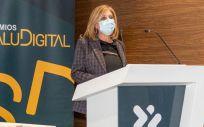 Yolanda Gómez, directora general de Linde Healthcare en los V Premios SaluDigital. (Foto. Oscar Frutos)