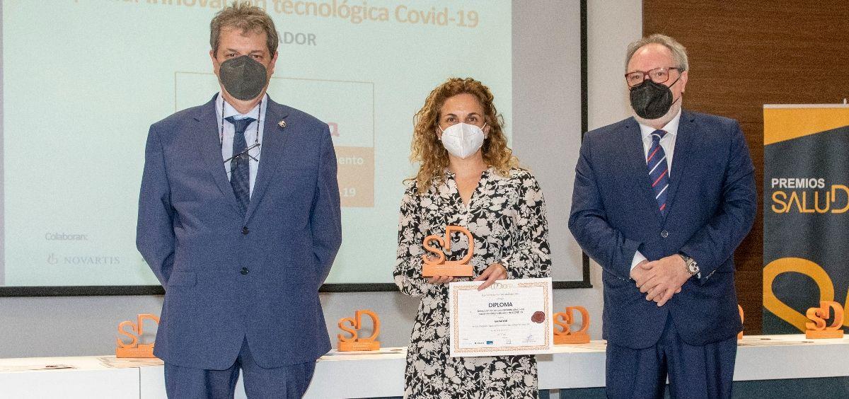 Mireia Ladios, jefa corporativa de Calidad e Innovación del grupo Ribera Salud premiada en la categoría  Especial Innovación Tecnológica Covid 19 (Foto. Oscar Frutos)