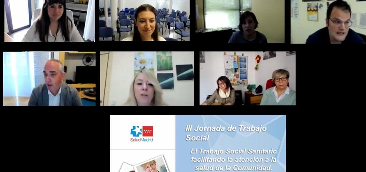 Ponentes de la III Jornada de Trabajo Social en Atención Primaria (Foto. Comunidad de Madrid)
