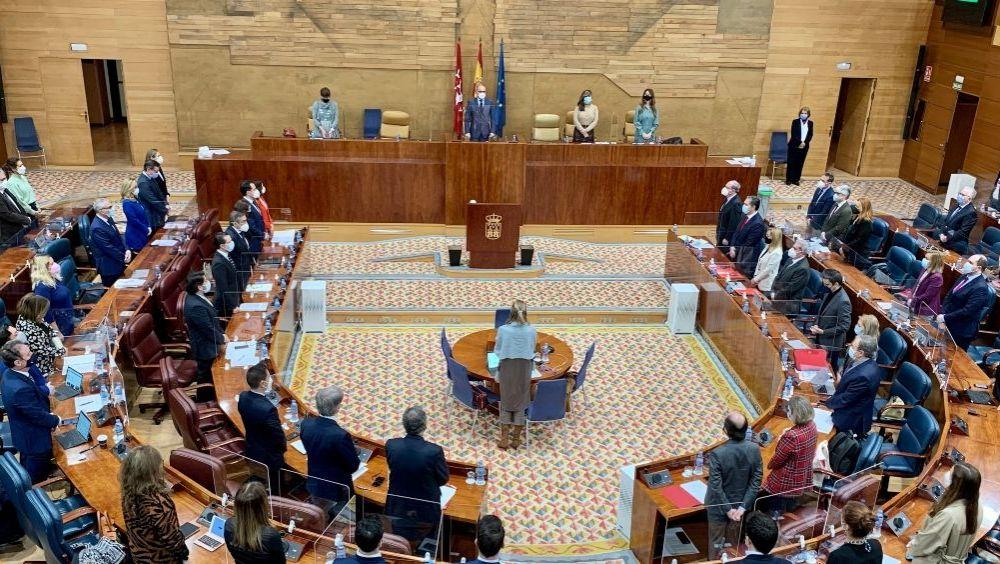 La Asamblea de Madrid durante un pleno (Foto: @asambleamadrid)