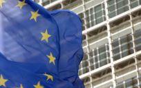 Bandera de la UE frente a la sede de la Comisión Europea. (Foto. CE)
