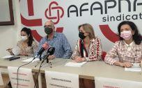 Raquel Santana, Juan Carlos Laboreo, Yolanda Erro y Esmeralda Landa, de Afapna (Foto. Europa Press)