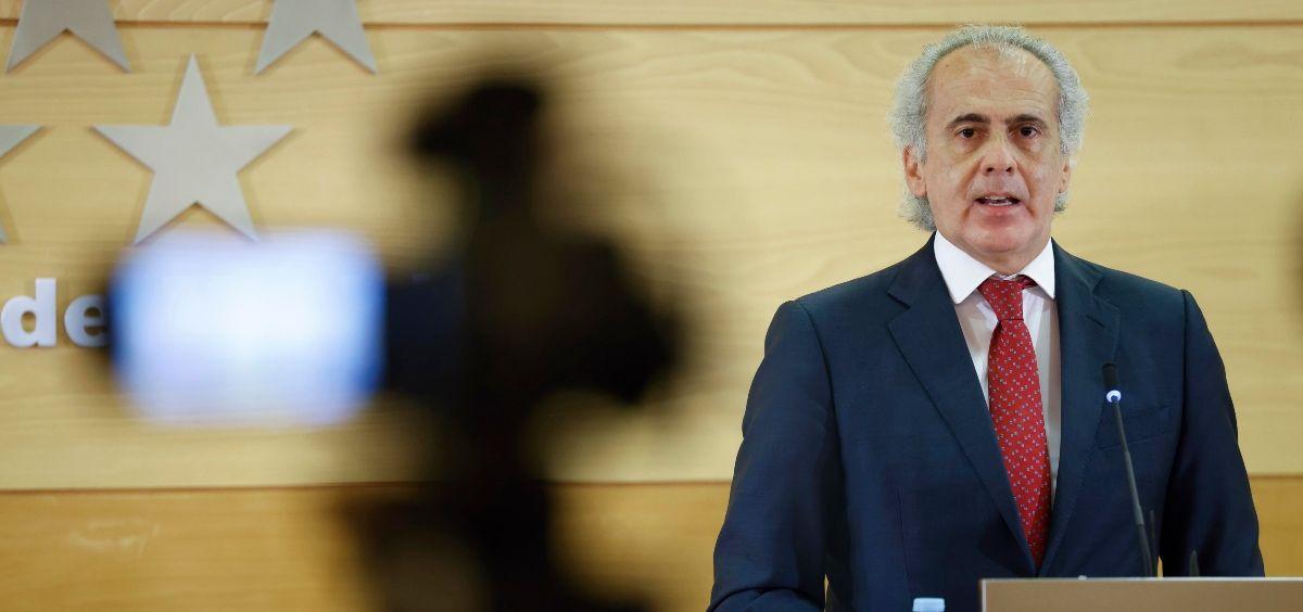 El consejero de Sanidad de la Comunidad de Madrid, Enrique Ruiz Escudero (Foto  CAM)