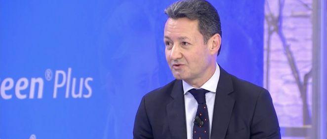 El director general de Coloplast España, Gerardo Álvarez, durante su intervención