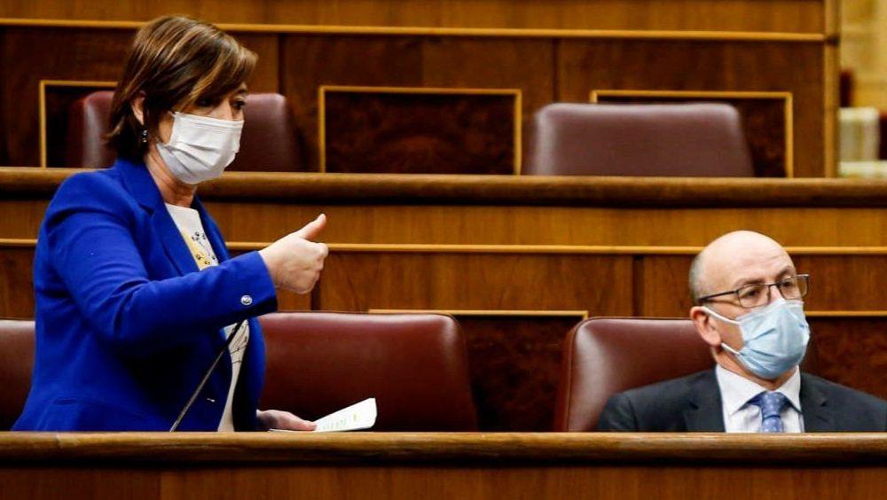 Josune Gorospe, del PNV, interviniendo en el Congreso de los Diputados (Foto: Congreso)