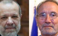 El Defensor del Pueblo, Francisco Fernández Marugán y Vicenç Martínez Ibáñez, director general de Ordenación Profesional.