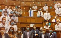 Presentación de ''C Salud'' en la Fundación Jiménez Díaz con el grupo protomotor del proyecto (Foto. ConSalud)