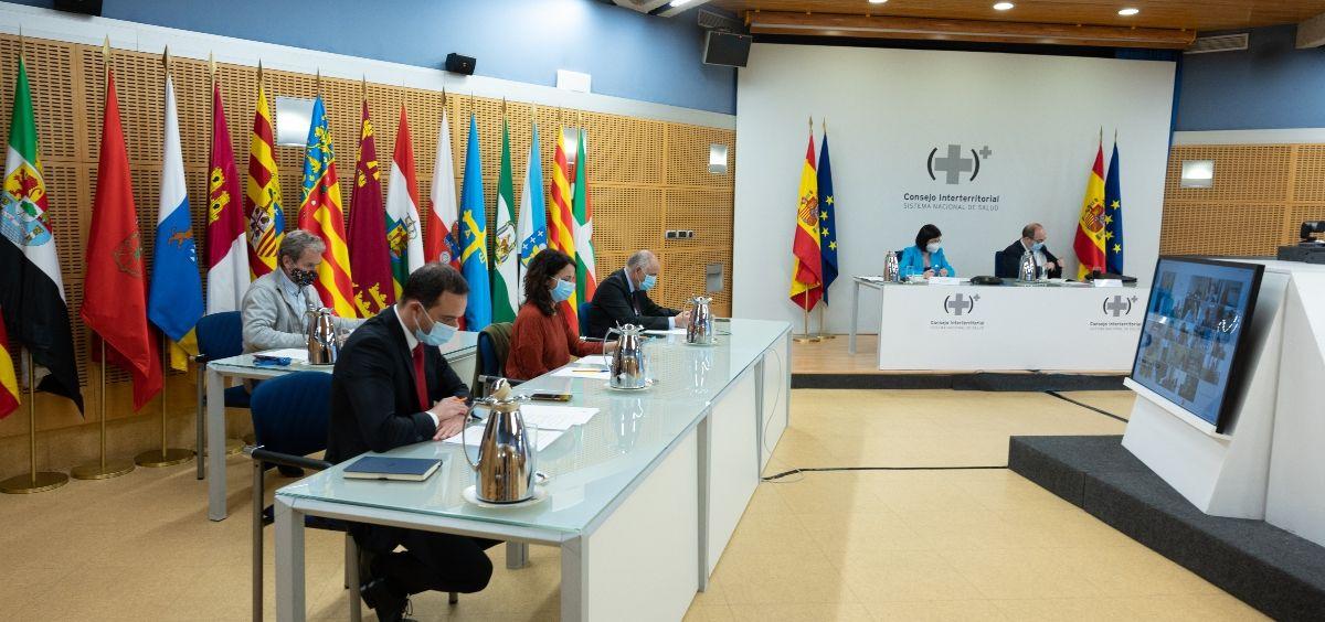 Consejo Interterritorial del SNS 12 de mayo (Foto. Pool Moncloa   Borja Puig de la Bellacasa )