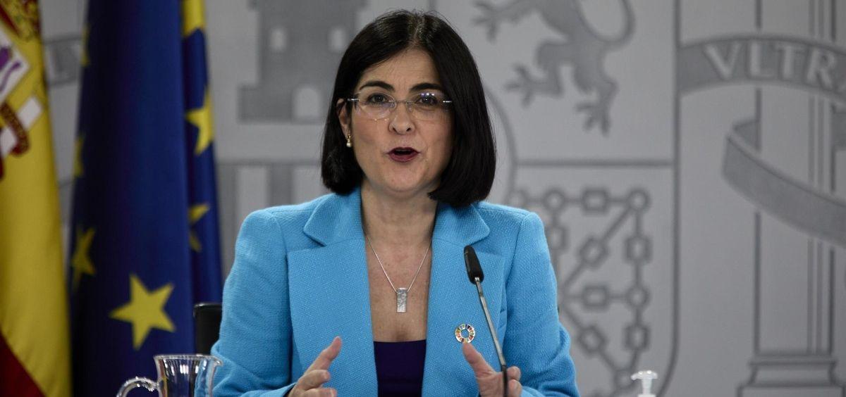 La ministra de Sanidad, Carolina Darias (Foto. EUROPA PRESS J. Hellín. POOL )