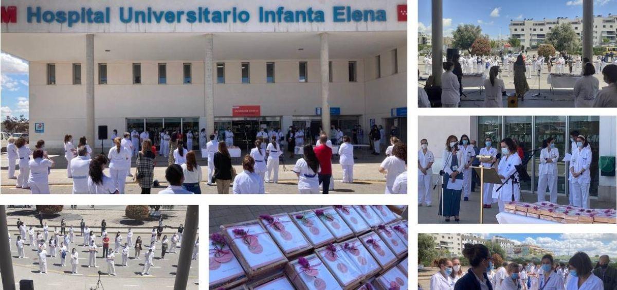 Acto conmemorativo por el Día Internacional de la Enfermería en el HUIE (Foto. HUIE)