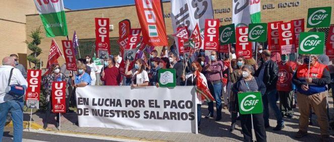 Protestas de profesionales sanitarios en Andalucía (Foto: CC.OO.)