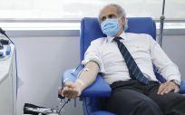 El consejero de Sanidad, Enrique Ruiz Escudero, no ha dudado en sumar esfuerzos para recuperar las reservas de sangre (Foto: Comunidad de Madrid)