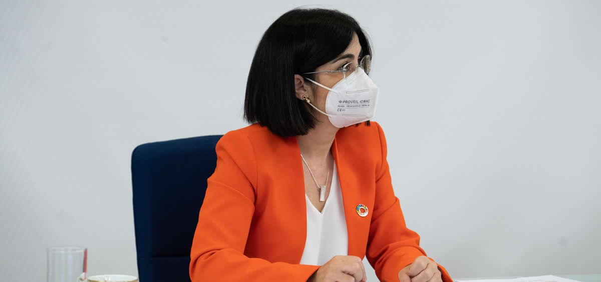 La ministra de Sanidad Carolina Darias durante el Consejo Interterritorial. (Foto. Pool Moncloa. Borja Puig de la Bellacasa)