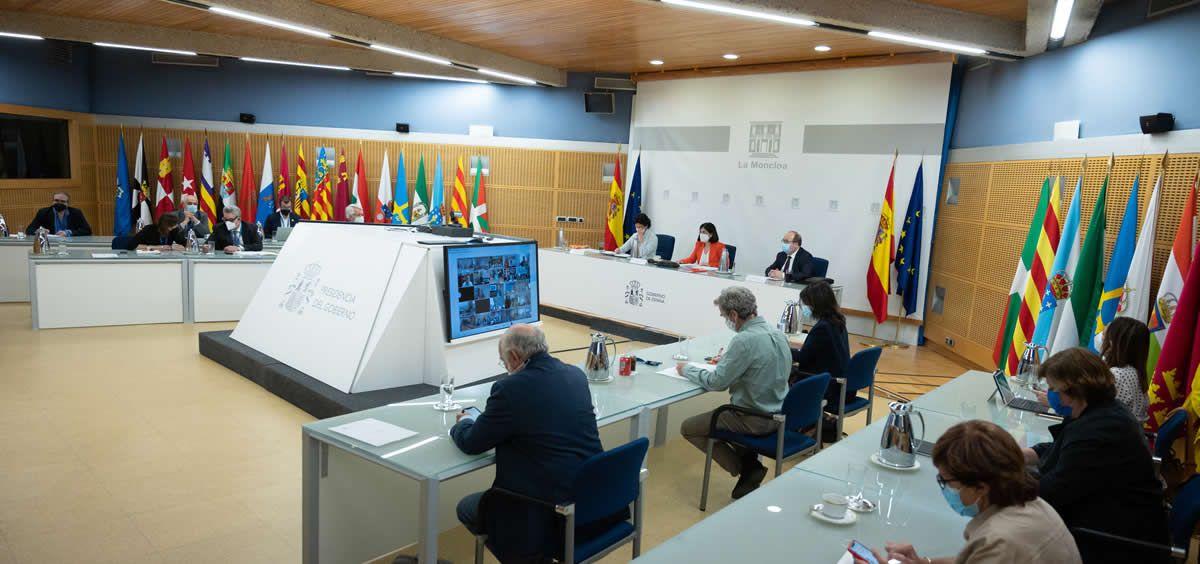 Reunión del Consejo Interterritorial del SNS. (Foto. Pool Moncloa. Borja Puig de la Bellacasa)