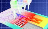 Versión 3D de una prueba de flujo lateral. (Foto. Grupo Ameloot)