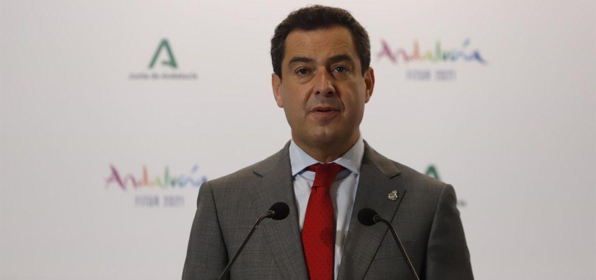 El presidente de la Junta de Andalucía, Juanma Moreno (Foto. Álex Zea   Europa Press)