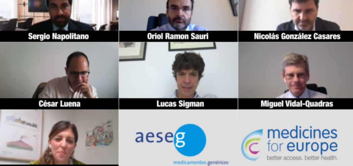 Representantes de Aeseg y Medicines for Europe reunidos con eurodiputados españoles (Foto. Aeseg)