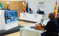 Celebración del Consejo Interterritorial del Sistema Nacional de Salud. (Foto. Pool Moncloa. Borja Puig de la Bellacasa)
