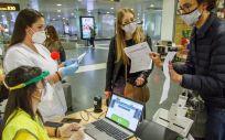 Control de pasajeros en un aeropuerto de Canarias (Foto. GOBIERNO DE CANARIAS )
